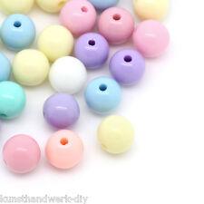 KUS 500 Mix Acryl Spacer Perlen Kugeln Beads Schmuckperlen Mehrfarbig 6mm