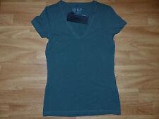 Neues ONLY Damen Shirt Twist V-Neck Basic-T-Shirt Gr. XS Olivgrün NEU/OVP