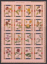 Umm Al Qiwain 1972 ** mi.1434/49 B klbg. ROSE ROSES FIORI FLOWERS Flora