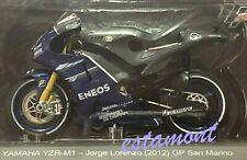 ★ MOTO GP - #99 Jorge Lorenzo 2012 - Yamaha YZR-M1 - 1/18 - Nº 45 ALTAYA