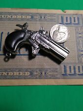 vintage Victory Mini Cap gun collectors POKER PLAYER Derringer toy Die Cast met