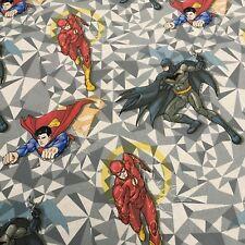 "DC Marvels Comic Superman, Batman & Flash Craft fabric  100% Cotton 58"" MH869-3"