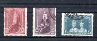 Australia 1948-49 Robes High Value fine used set SG176A-178A WS19315