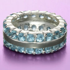 Seeing Double Blue CZ Ring ~ Size 9