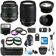 Nikon 18-55mm VR & 70-300mm G Lens & PowerGrip Kit for D3100 / D3200