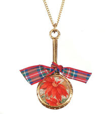 Maximal Art Necklace Christmas Poinsettia Gold New John Wind Jewelry