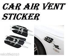 2 Universal Car Side Air Flow Vent Fender Air Net Door Decals Auto Sticker DIY