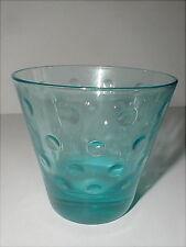 Hazel Atlas Glass Blue Capri Dots Old Fashioned Tumbler/s