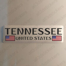 """Jet Setters State Dimensional Stickers 4.5/""""x7.5/""""-tennessee"""