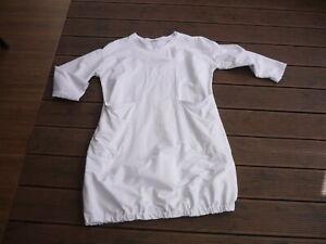Weißes weites Sweatshirtkleid*MADE IN ITALY*Ballonsaum*Einheitsgröße*