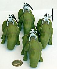 Star Wars action fleet Sandtroopers and Dewbacks by Galoob.