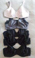 Ladies Bundle 38c M&S Bras X 5, Underwired, 3 Black Smooth, 1 Sport, 1 Comfort..