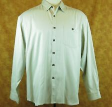 Tommy Bahama's Mens Button Down Shirt XL Long sleeve Beige