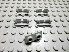 Lego 5 Scharnier Oberteile 1x2 althellgrau  3938 Set 5550 6900 5948 4950