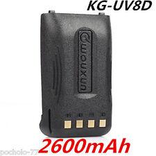 Bateria Original Wouxun KG-UV8D Litio alta capacidad 2.600mA Battery KGUV8D 2.6A