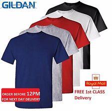 5 Paquete Llano En Blanco Gildan 100% Algodón Grueso Camiseta Múltiple Colores