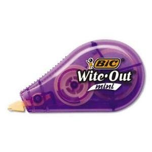 """Bic Corporation WOTM11 Wite-out Brand Mini Correction Tape, Non-refillable, 1/2"""""""