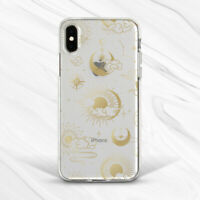Celestial Gold Sun Moon Sky Constellations Case For iPhone 6 7 8 Xs XR 11 Pro SE