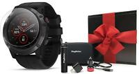 Garmin fenix 5X Plus Sapphire GPS Watch (Black) | HOLIDAY GIFT BOX BUNDLE