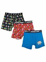 Underoos Minecraft 3 Pack Boys Boxer Briefs Underwear Size XS 4 NEW