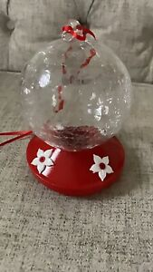 Crackled Glass Hummingbird feeder with 4 feeder stations