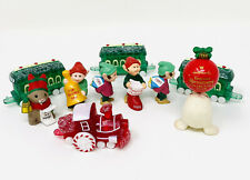 Christmas Lot Of Hallmark Merry Miniatures, Trains, Elves, Seal & More 10 Pieces