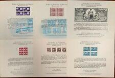 United States BEP B 16-21 Souvenir Cards 1972 Mint