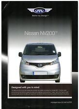 Nissan NV200 Voyager Taxi c2010-11 UK Market Leaflet Sales Brochure & Specs