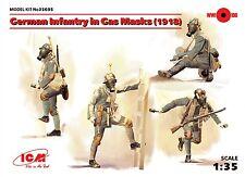 ICM 1/35 infantería alemana en máscaras de gas (1918) # 35695