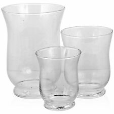 3 Piece Hurricane Glass Set Candle Light Lamp Holder Centre Piece Wedding Table
