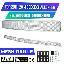 Mesh Grille Fits For Dodge Challenger 2011-2014 Stainless Steel Grille Combo Set