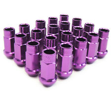 M12 X1.5mm Aluminum Wheel Lug Nuts Open End Purple Celica MR2 Corolla Supra