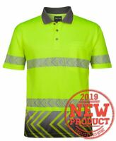 HiVis Sublimated METAL Mesh Short Sleeve Work SAFETY Cool Breathable Polos 3551