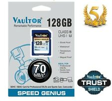 GENUINE VAULTOR 128GB ULTRA HIGH SPEED SDXC SD MEMORY CARD FOR CAMERA - 70MB/S
