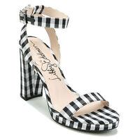 4339c18a2166e3 Libby Edelman Gato Brown Strappy Stretch High Heel Sandal 8.5 Sale ...