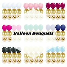 12 PC Balloon Party Kit with Gold Confetti Balloons Party Supplies Birthday Baby