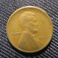 1917-S San Francisco Mint Lincoln Wheat Cent Penny! Free Shipping!