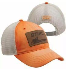 Stihl Washed Orange Twill and Mesh Cap...Chainsaw Stihl Patch…Nice New