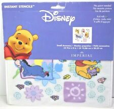 Disney Winnie the Pooh Rub On Instant Stencils Wall Decor New Free Shipping