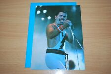 RARE FREDDIE MERCURY CARD - NEW, BLANK INSIDE. Birthday Thank You Christmas Xmas