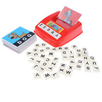 Literacy Card Game - Alphabet Letter Word Flashcard Matching Educational Toy