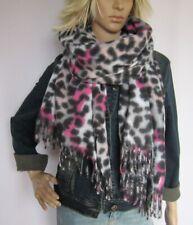 Tuch Schal Webschal weich Viskose animalprint Leopard Leo sandbeige schwarz