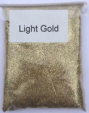 100g LIGHT GOLD Glitter - ultra fine glass art craft festival sparkle