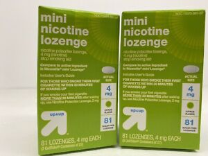 Nicotine 4mg Mini Lozenge - Citrus -162ct - up & up expires 02/23  CITRUS FLAVOR