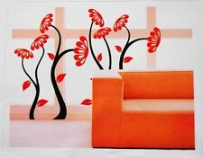Removable Interior Wall Decor Decal Craft Art Sticker Flower Water Resistant Red