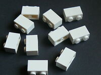 Lego 10 briques blanches  / 10 white bricks 1 x 2