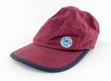 Patagonia Mens Peak Patch 5 Panel Tradesmith Hat Oxblood Red Cap Buckle 2015
