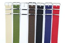 """New Nylon Watch Strap Stainless Steel Buckles 20MM 9 1/2"""" fits Timex Weekender"""