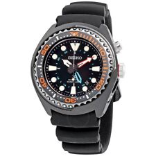 NEW SEIKO PROSPEX Kinetic GMT Divers Rubber Black Dial SUN023 Sports Mens Watch