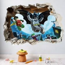 3D Batman Out The Wall Sticker For Kids Boys Room Home Decor Art Mural